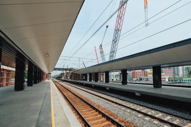 33. Реконструкция платформы Долгопрудная. Фото — flyerunderfire (Twitter.com). 2020 год