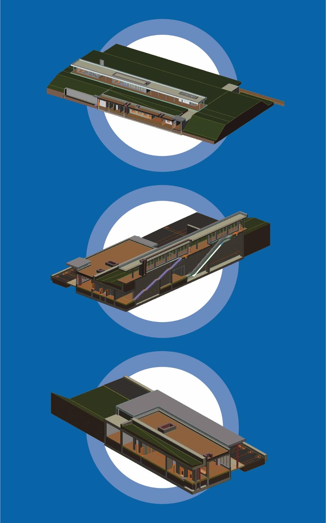 27. Проект реконструкции платформы Водники. 3D-модель конкорса. ООО «Проинжиниринг». 2019 год