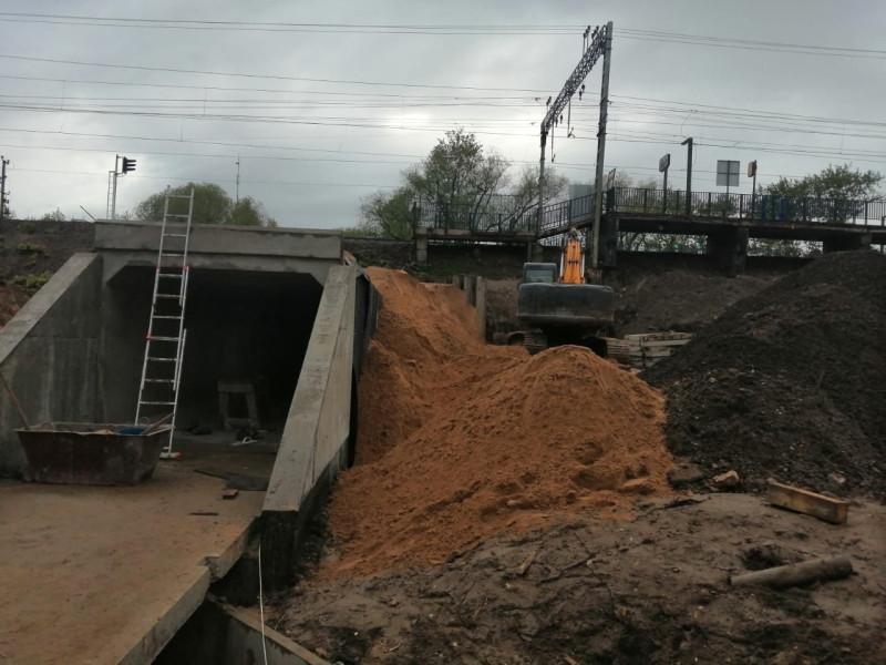 37. Реконструкция тоннеля у платформы Хлебниково. Фото — vk.com/dolgoprudnyofficial. 2020 год