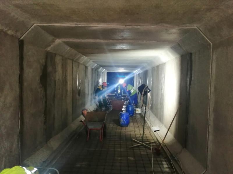 38. Реконструкция тоннеля у платформы Хлебниково. Фото — vk.com/dolgoprudnyofficial. 2020 год