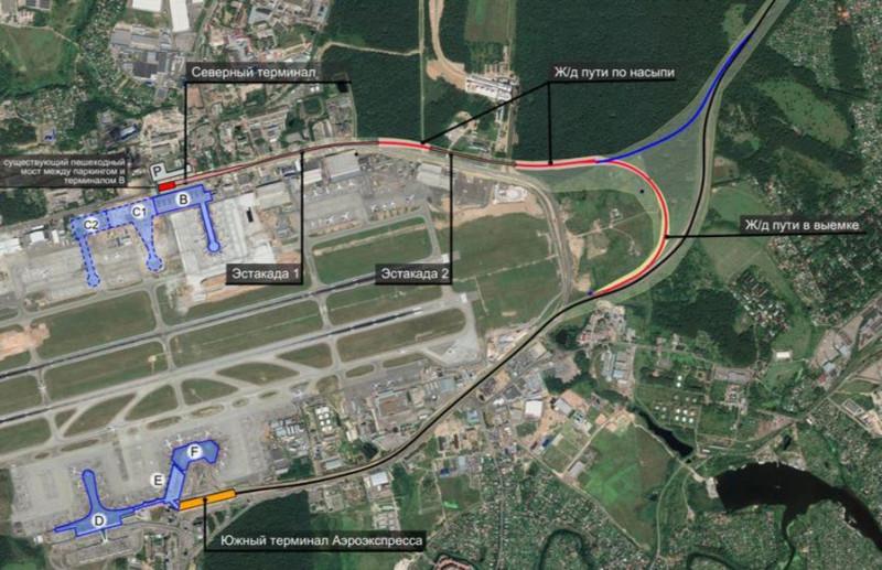 12. Проект северной железнодорожной линии в аэропорт Шереметьево. 2018 год