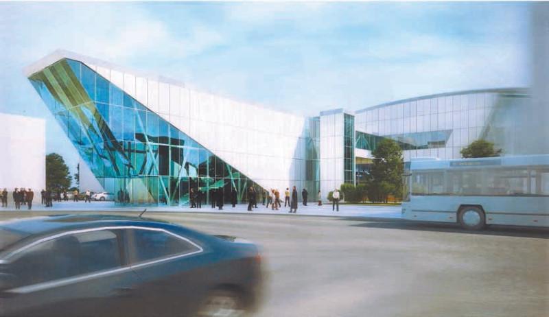 29. Проект реконструкции платформы Лобня. Вариант 1. Западный выход. 2019 год