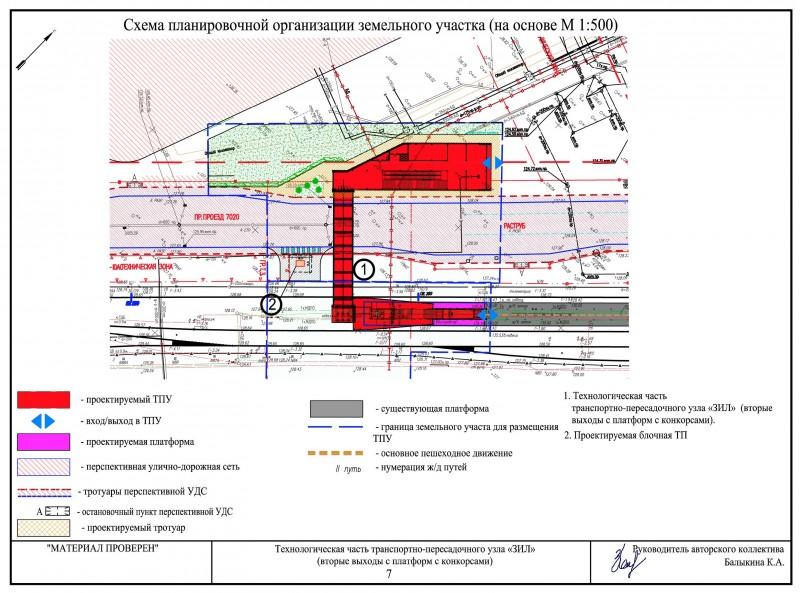 39. Проект западного вестибюля станции ЗИЛ МЦК. АО «Ленгипротранс». 2017 год