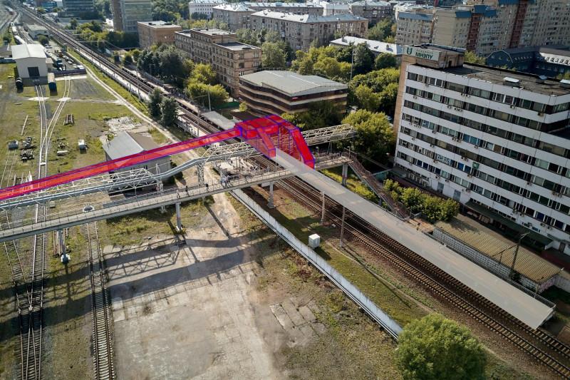 10. Проект реконструкции платформы Красный Балтиец. Фотомонтаж. АО «Мосгипротранс». 2018 год
