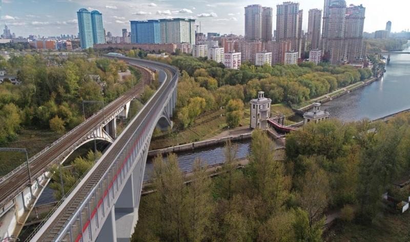 35. Проект железнодородного моста через канал имени Москвы. ООО «Интермост». 2020 год