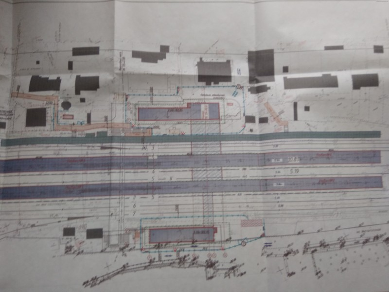22. Проект реконструкции платформы Нахабино. Вариант 1. План зданий. АО «Мосгипротранс». 2018 год