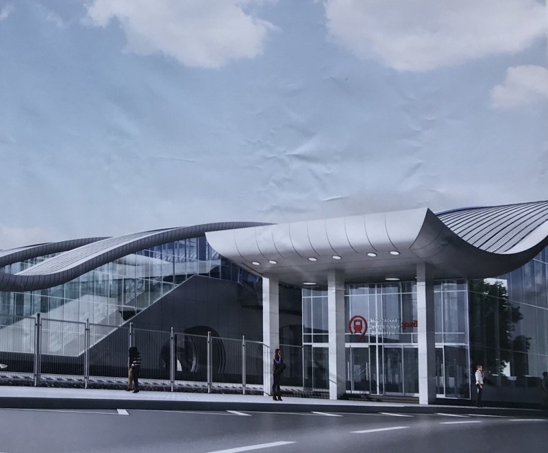 27. Проект реконструкции платформы Нахабино. Вариант 2. Южный вход. АО «Мосгипротранс». 2018 год