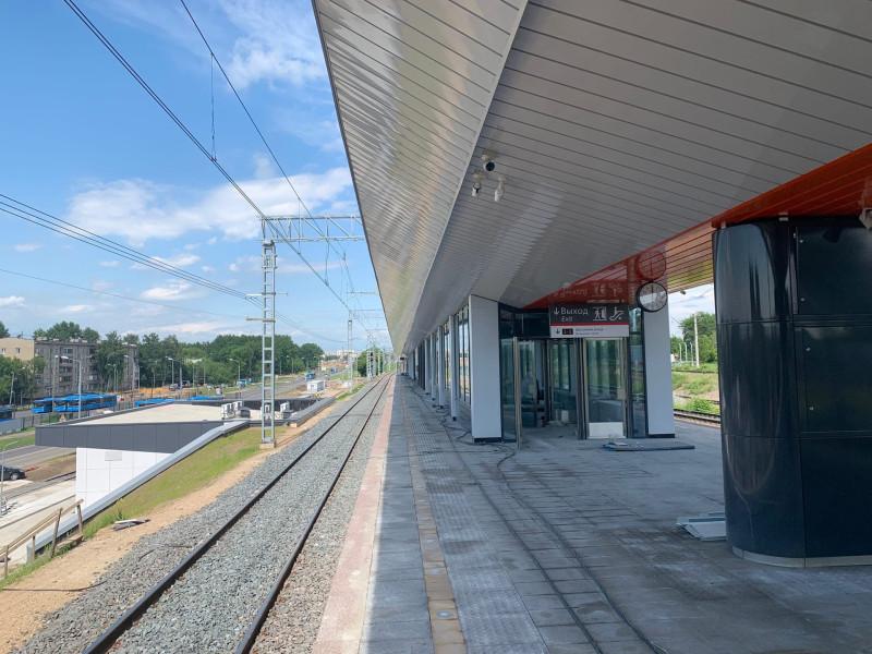 18. Строительство платформы Курьяново. Фото — «Развитие метрополитена и транспорта Москвы». 2020 год