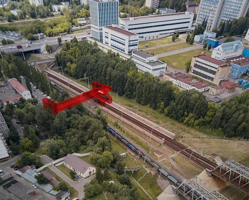 20. Проект реконструкции платформы Москворечье. Фотомонтаж. АО «Мосгипротранс». 2018 год
