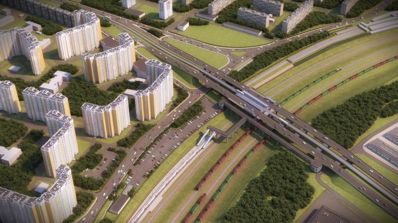 38. Проект реконструкции платформы Красный Строитель. Общий вид. 2019 год