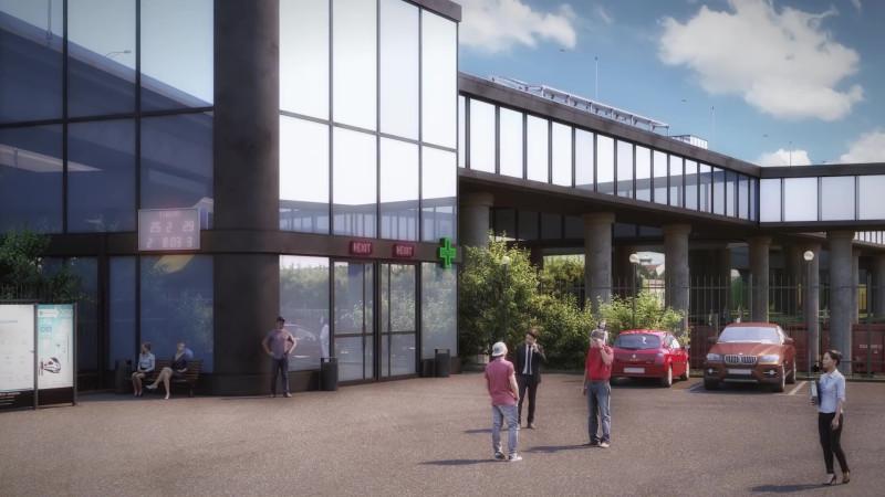 40. Проект реконструкции платформы Красный Строитель. Западный выход. 2019 год