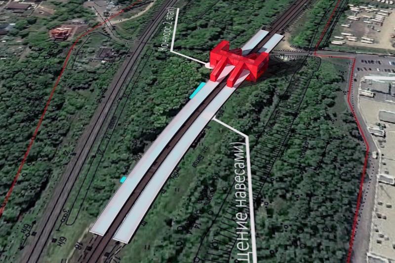 03. Проект реконструкции платформы Битца. Фотомонтаж. АО «Мосгипротранс». 2018 год