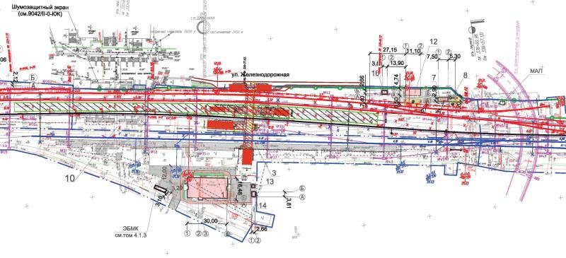 06. Проект реконструкции платформы Щербинка. Вариант 1