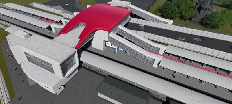 07. Проект реконструкции платформы Щербинка. Вариант 2. 2019 год