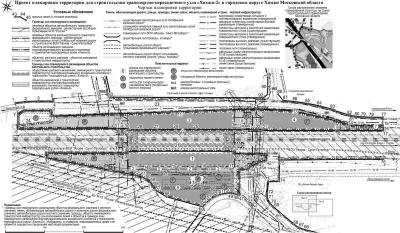01. Проект транспортно-пересадочного узла «Химки-2». План размещения. 2016 год