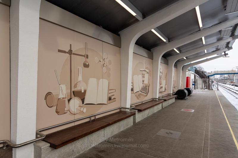 33. Северная платформа станции «Студенческая» после реконструкции. Фото - metromen.livejournal.com. 2017 г.