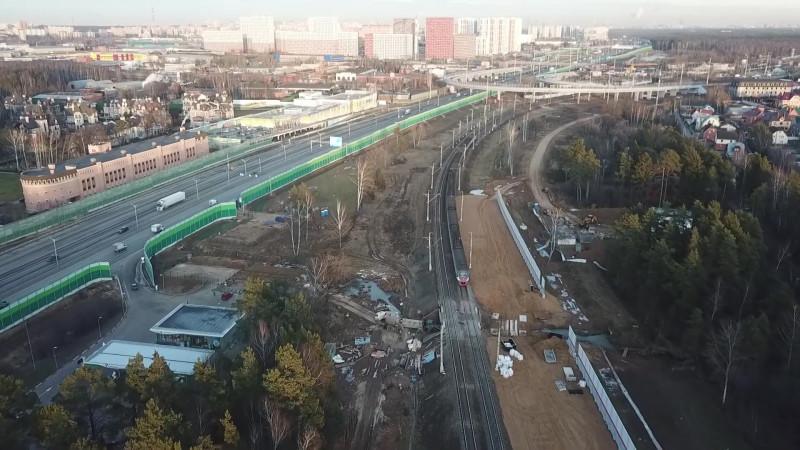 16. Строительство моста на ПК245+82,20. Кадр из видео Анатолия Волкова. 2019 год.
