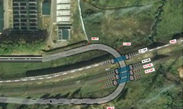 18. Проект путепроводов на Киевском направлении вблизи переезда ПК267+20,00.
