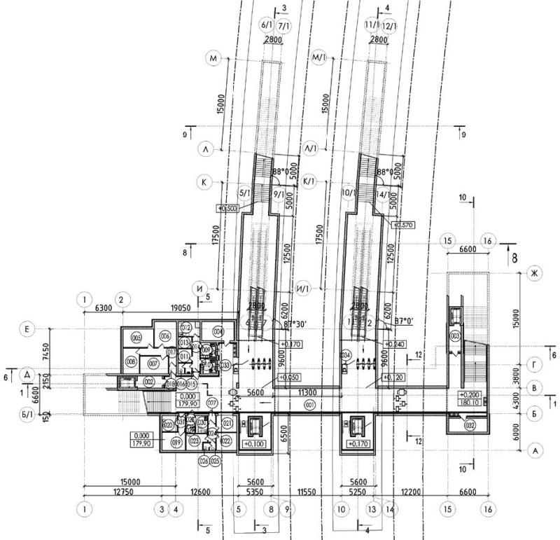 21. Проект реконструкции платформы Лесной городок. План конкорса. ООО «Стройпроект». 2018 год.