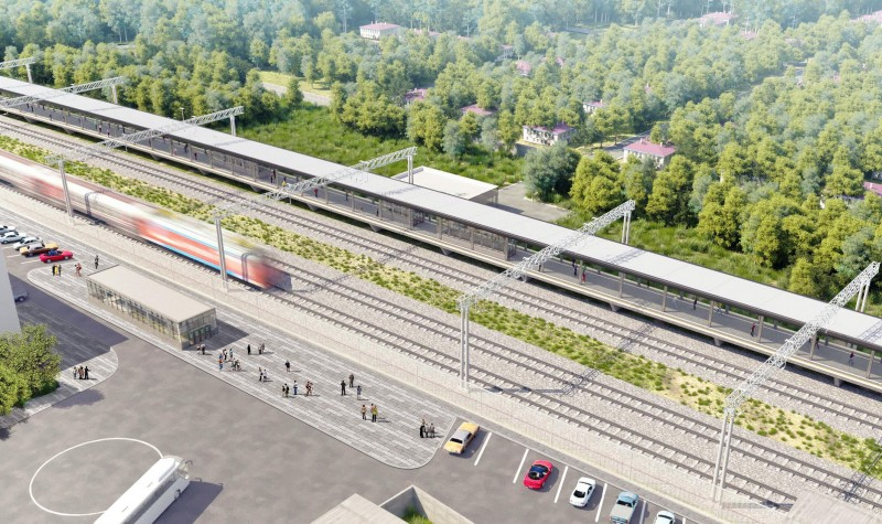 28. Проект реконструкции платформы Толстопальцево. 2020 год.