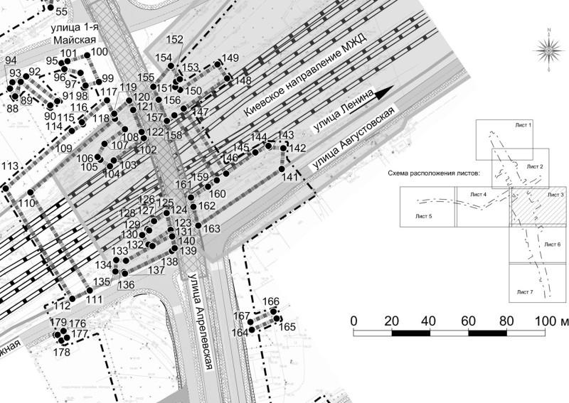 32. Проект путепровода на ПК414+88,95 между улицами Самохина и Апрелевской.