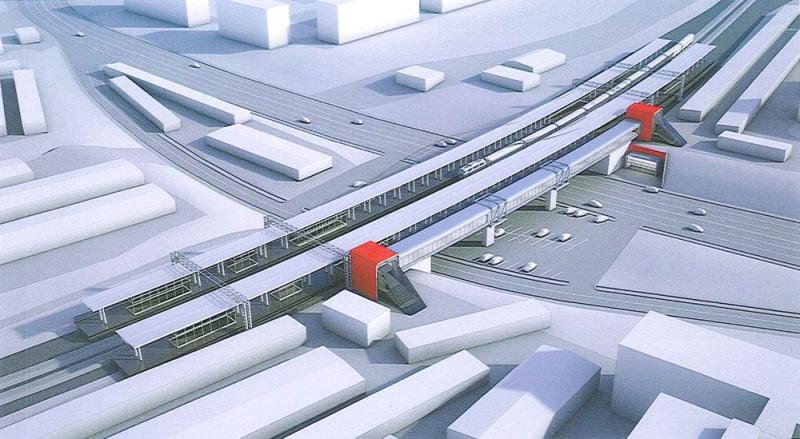 10. Проект станции МЦК Хорошёво. Вариант 2. 2016 (?) год.