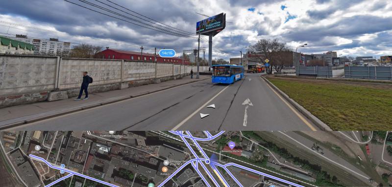 07. Возможное местоположение будущей платформы Николаевка. Фото — Яндекс-Панорамы. 2020 г.
