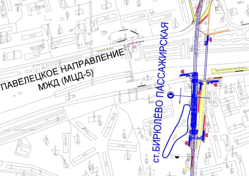 25. Проект станции метро «Бирюлево-Пассажирская» Бирюлёвской линии метрополитена. 2020 год.