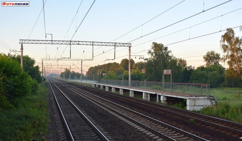 34. Платформа 32 километр. Фото — Сергей Николаев (сайт railwayz.info). 2020 год.