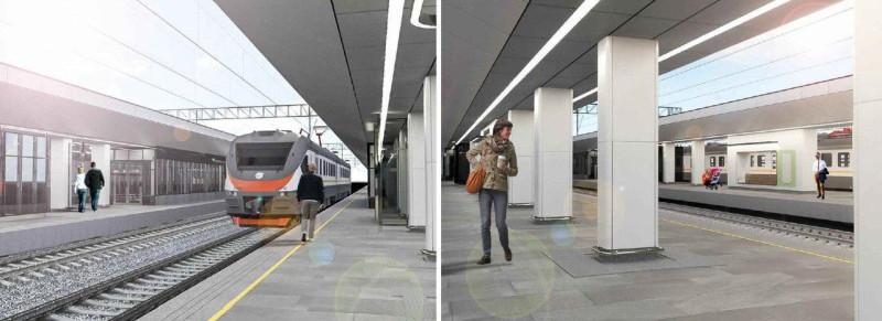 18. Проект реконструкции платформы Тимирязевская. Вариант 2. 2020 год.