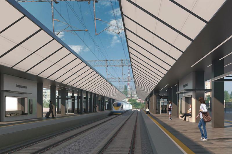 17. Проект реконструкции платформы Тимирязевская. Вариант 1. 2020 год.