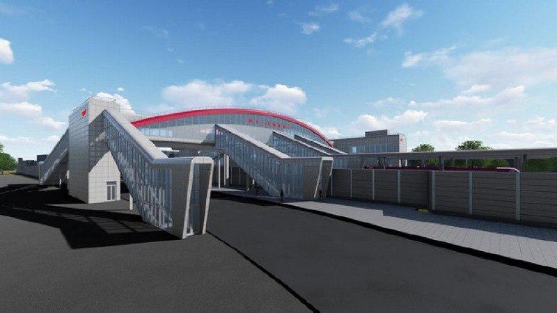 27. Проект реконструкции платформы Щербинка. Восточный выход (к Железнодорожной улице). 2019 год.