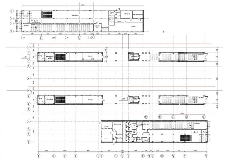 17. План третьего этажа платформы Щукинская (неактуальный вариант). АО «Мосгипротранс». 2018 год.