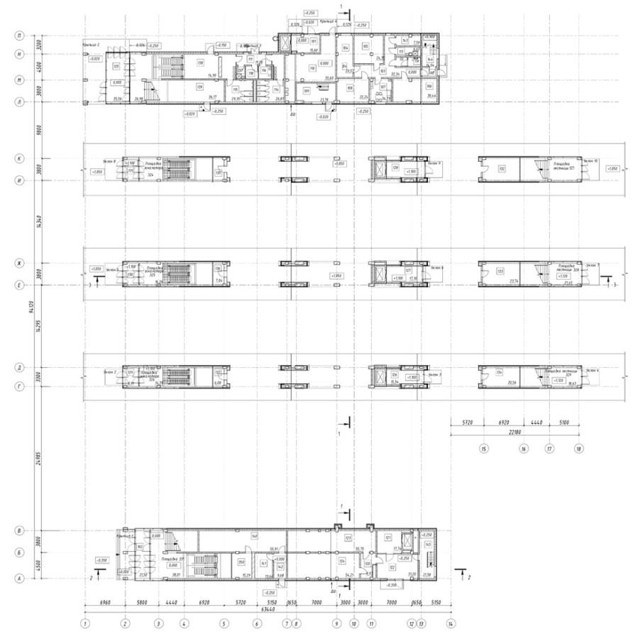 03. План первого этажа станции Нахабино (актуальный вариант). АО «Мосгипротранс». 2019 год.