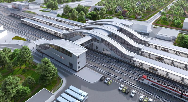 06. Станция Нахабино. Общий вид. АО «Мосгипротранс». 2019 год.