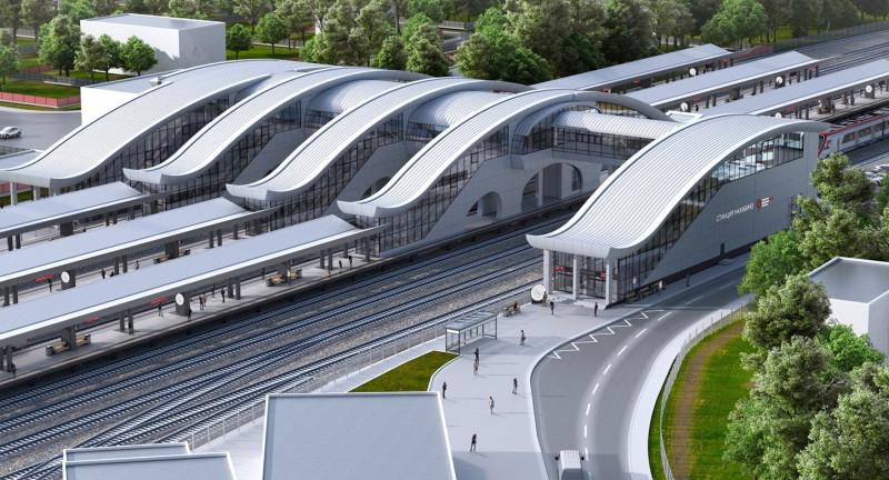 07. Станция Нахабино. Общий вид. АО «Мосгипротранс». 2019 год.