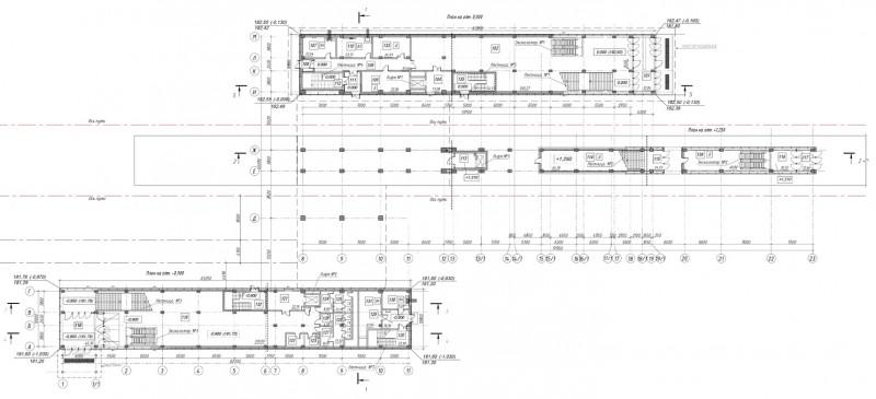 17. План первого этажа платформы Опалиха. АО «Мосгипротранс». 2019 год.