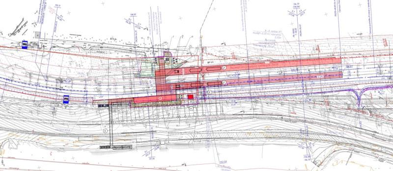 28. Схема платформы Пенягино (актуальный вариант). АО «Мосгипротранс». 2019 год.
