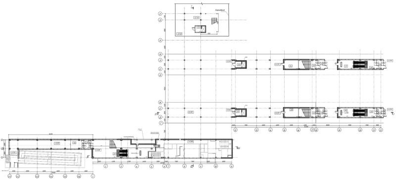 29. План второго этажа платформы Пенягино. АО «Мосгипротранс». 2019 год.