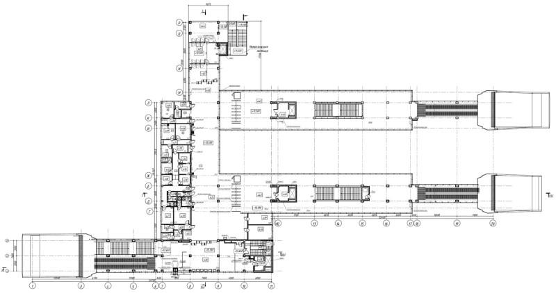 30. План четвёртого этажа платформы Пенягино. АО «Мосгипротранс». 2019 год.