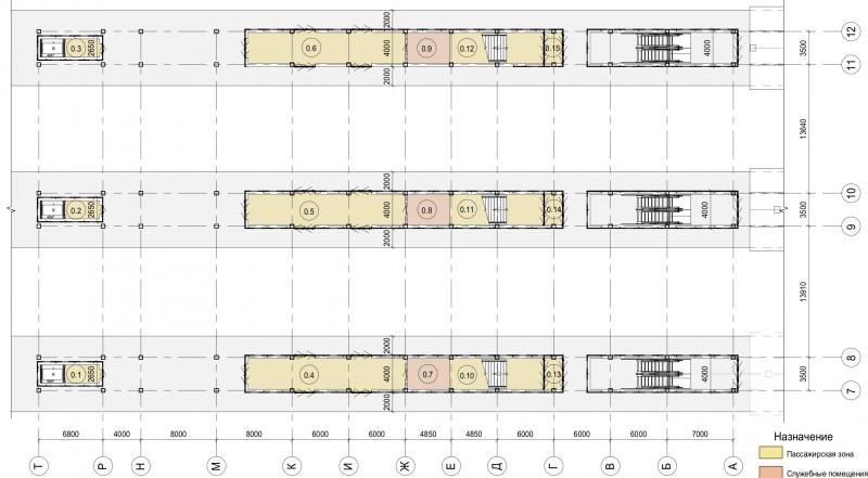 04. План первого этажа вестибюля станции Одинцово. Архитектурное бюро Тимура Башкаева. 2019 год.