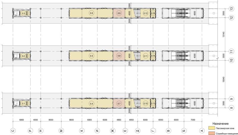 17. План первого этажа вестибюля станции Лобня. Архитектурное бюро Тимура Башкаева. 2019 год.