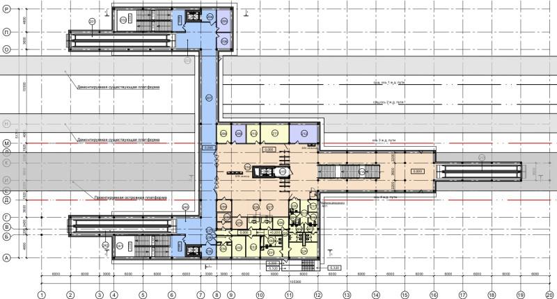 20. План третьего этажа платформы Шереметьевская (вариант 2). ООО «Новые технологии». Начало 2019 года.