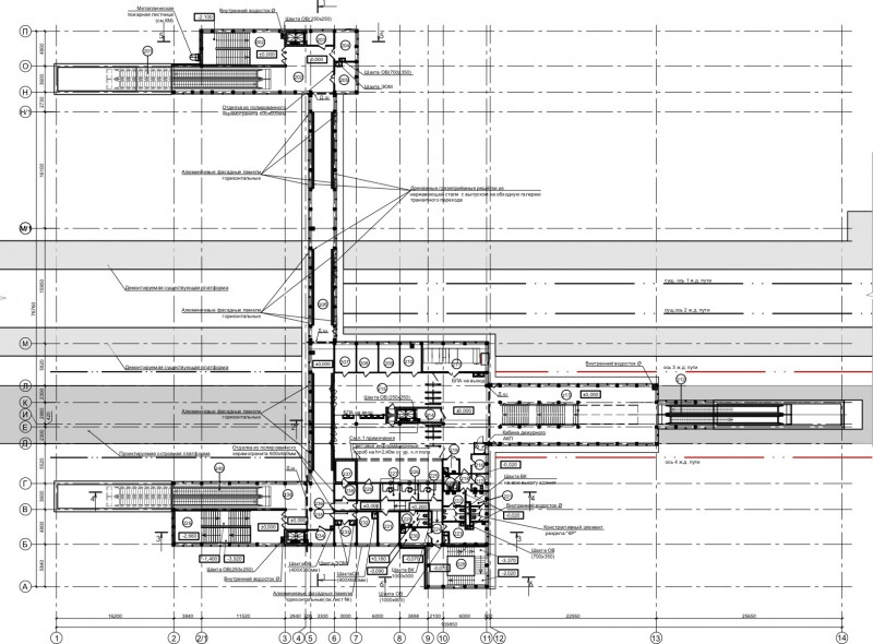 21. План третьего этажа платформы Шереметьевская (вариант 4). ООО «Новые технологии». Ноябрь 2019 года.