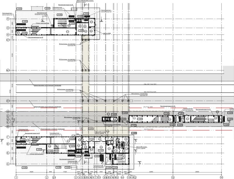 23. План первого этажа платформы Шереметьевская (вариант 4). ООО «Новые технологии». Ноябрь 2019 года.