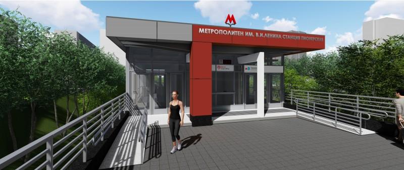 14 Проект реконструкции вестибюля станции «Пионерская». Авторы: «Инжпроект». 2017 г.