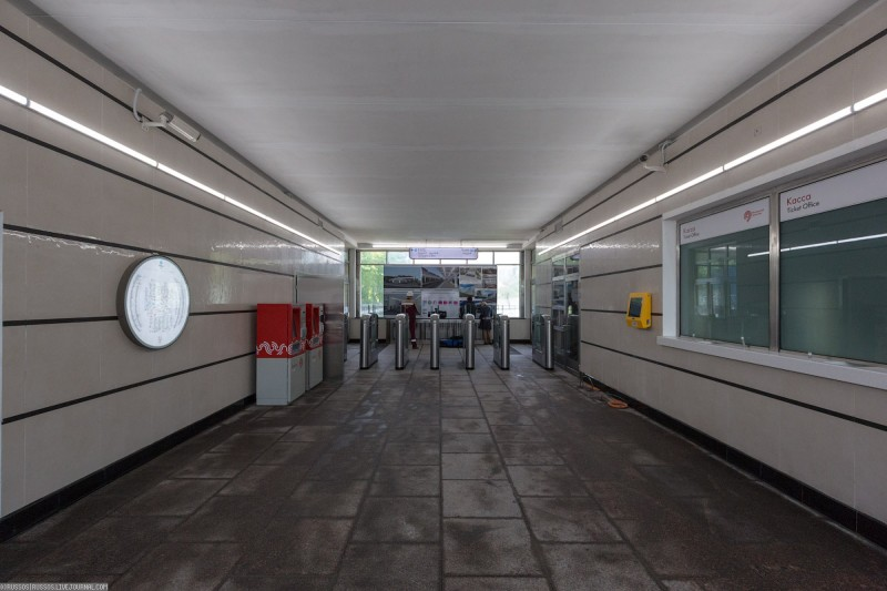 15. Западный вестибюль станции «Фили» в процессе реконструкции. Фото - Александр Попов. 2017 г.
