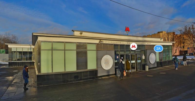 27. Восточный вестибюль станции «Фили» после реконструкции. Фото - «Яндекс.Карты». 2020 г.