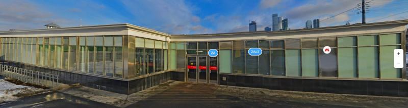 28. Восточный вестибюль станции «Фили» после реконструкции. Фото - «Яндекс.Карты». 2020 г.