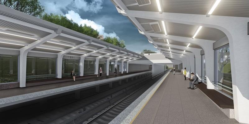 47. Проект реконструкции платформы станции «Фили». Вариант А. Авторы: «Инжпроект». 2018 г.